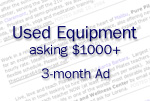 Ad for used equipment