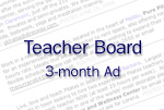 Ad on the Teacher Board