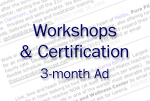 Ad for Workshops & Certification